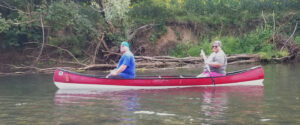 Couple in a canoe